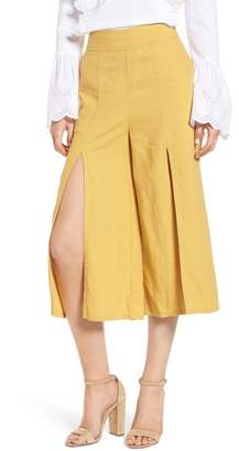 BP Split Front Wide Leg Crop Pants