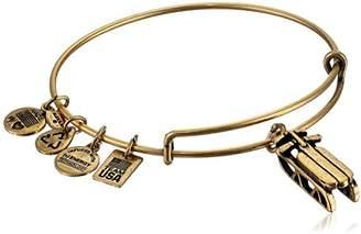 "Alex and Ani Team USA Winter"" Sled Expandable Wire Rafaelian Gold-Tone Bangle Bracelet"