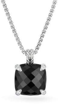 David Yurman Chatelaine? Pendant Necklace with Black Onyx and Diamonds