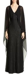 St. John Sculpted Sequin Tuck Knit Gown
