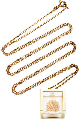 Aurelie Bidermann Amazone Box Pendant With Ball Of Gold Threads Necklace
