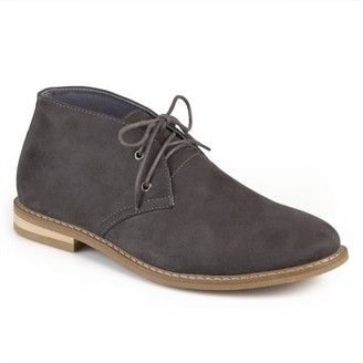 Territory Men's Faux Suede Fashion High Top Lace-up Chukka Boots