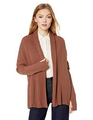 4b2188cc8f Cable Stitch Women s Long-Sleeve Rib-Knit Cardigan Sweater with Thumbhole