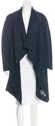 Donna Karan Textured Jacquard Knee-Length Coat w/ Tags