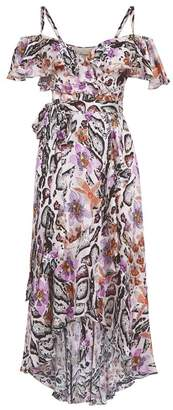 Temperley London Safari Printed Wrap Dress