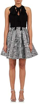Karen Millen WOMEN'S FLORAL ORGANZA & CHIFFON DRESS