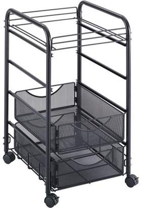 Safco, SAF5215BL, Onyx Mesh Open File with Drawers, 1 Each, Black