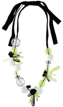 Marni Resin & Fabric Flower Bead Strand