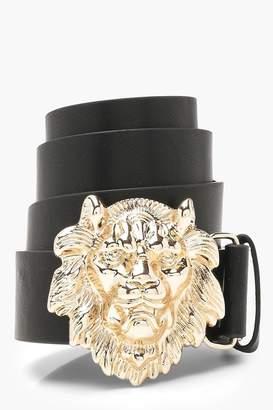 boohoo Lion Head Buckle Boyfriend Belt