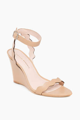 Loeffler Randall Wheat Piper Scallop Wedge Sandals