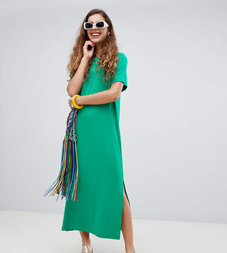 Monki Side Split Midi T-Shirt Dress
