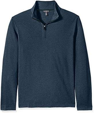 Van Heusen Men's Big and Tall Flex Long Sleeve Ottoman Quarter Zip