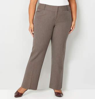 Avenue Brown Check Bi Stretch Trousers