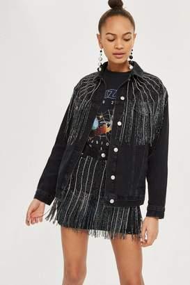 Topshop MOTO Dazzle Fringe Skirt