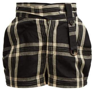Vivienne Westwood Checked Linen Shorts - Womens - Black Multi