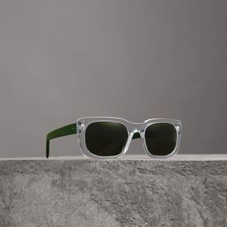 Burberry Square Frame Sunglasses, White