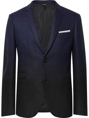 Neil Barrett Storm-Blue Slim-Fit Degrade Virgin Wool-Blend Suit Jacket - Storm blue