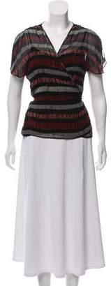 Calvin Klein Collection Silk Wrap Blouse