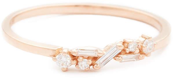 Fireworks 18k Gold Diamond Cluster Ring