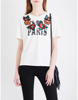 Maje Toulous 'I heart Paris' cotton-jersey T-shirt