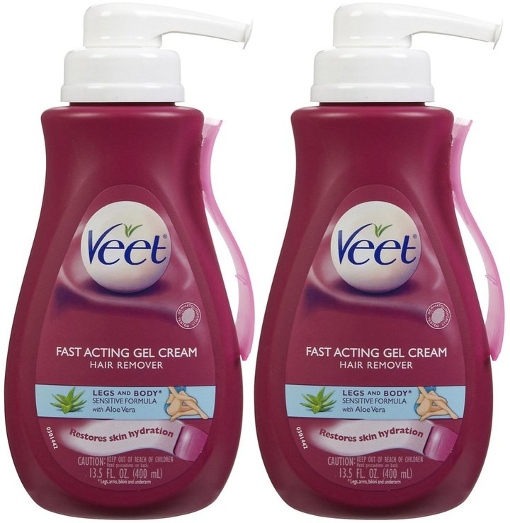 Veet Hair Removal Gel Cream Sensitive Formula - 13.5 oz - 2 pk