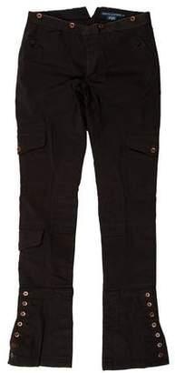 Ralph Lauren Low-Rise Straight-Leg Pants