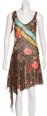 Blumarine Silk Printed Dress