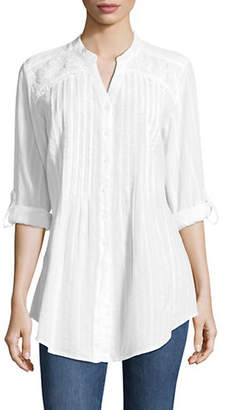 Style&Co. STYLE & CO. Embroidered Cotton Tunic