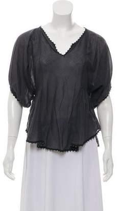 Etoile Isabel Marant Pom-Pom Short Sleeve Top