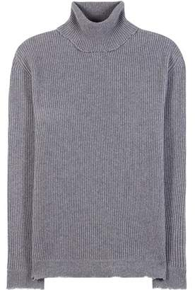 Valentino Ribbed wool and cashmere turtleneck sweater