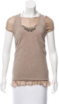 Brunello Cucinelli Sleeveless Contrasted Top