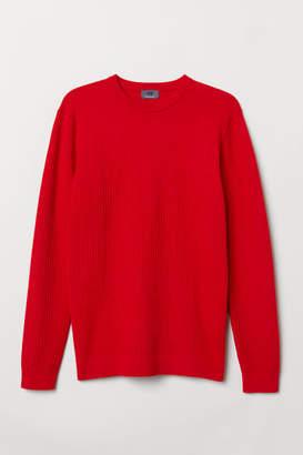 H&M Premium Cotton Sweater - Red
