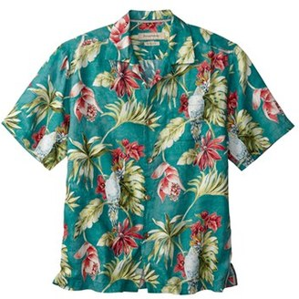 Tommy Bahama 'Take Flight' Print Short Sleeve Linen Sport Shirt (Big & Tall) $128 thestylecure.com