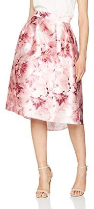 Dorothy Perkins Women's Luxe: Blurred Floral Hi Low Prom Skirt