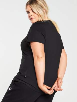 Puma Curve Essentials Logo Tee - Black