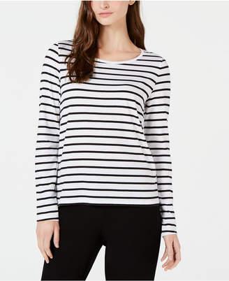 Eileen Fisher Organic Cotton Striped Top