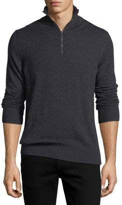 Burberry Rawlins Cashmere-Blend Sweater, Charcoal