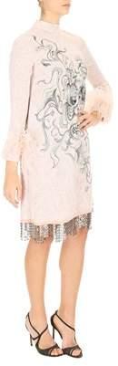 Prada Women's Pink Wool Dress.