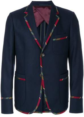Gucci striped trim blazer