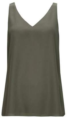 Wallis Khaki V-Neck Camisole Top
