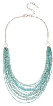 Kenneth Cole New York Aqua Chain Crystal Multi-Row Chain Necklace