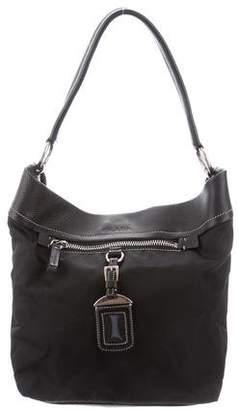 0a520de94eb451 Prada Black Nylon Leather Trimmed - ShopStyle
