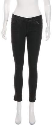 Habitual Waxed Mid-Rise Skinny Jeans