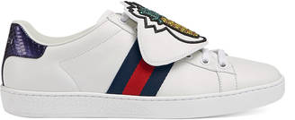 Ace sneaker with removable embroideries $950 thestylecure.com