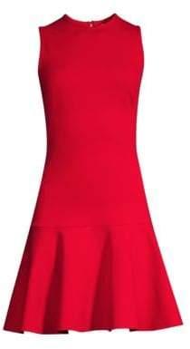 Black Halo Dania Drop Waist Mini Dress