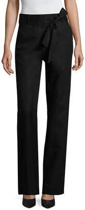 Liz Claiborne Belted Wide Leg Linen Pants