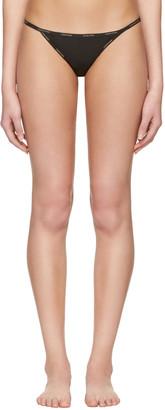 Calvin Klein Underwear Black String Bikini Briefs $20 thestylecure.com