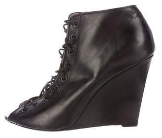 Givenchy Leather Wedge Booties
