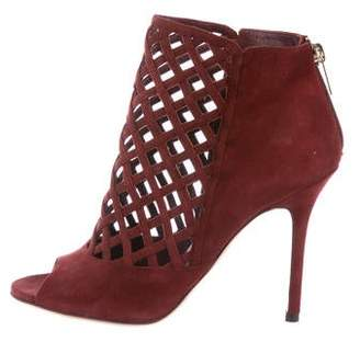 Jimmy Choo Suede Caged High-Heel Sandals