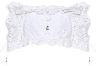 Zimmermann Cotton lace crop top